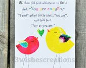 8 x 10 Whimsical Art Print You Are Enough