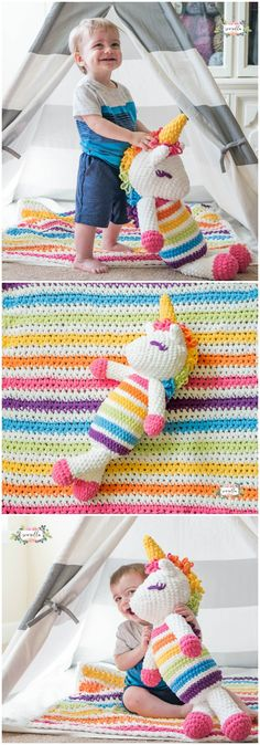 Here we have shared a grand list of free crochet amigurumi patterns that all makes perfect cuddly toys and can also be used as best lovey to your babies!Lola the Crochet Plushy Unicorn
