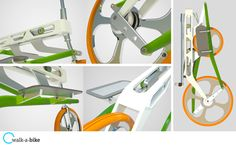 DZine Trip | Walkabike – A radical new bicycle for the urban commuter | http://dzinetrip.com