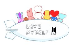 Love yourself because you are special.Our boys taught us that Bts Chibi, Leprechaun, Bts Memes, K Pop, I Love Bts, My Love, Chibi Wallpaper, Wallpaper Keren, Fanart Bts