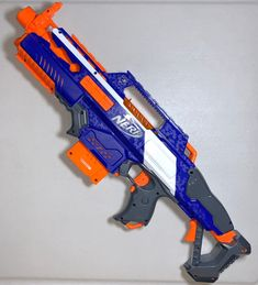 NERF N-Strike Elite Rapidstrike Blaster Tested and in Working Condition. Clip size is only 6 darts only no darts included Used condition. Minor scuffs and scratches from normal use. Nerf Rifle, Nerf Gun Attachments, Outdoor Toys For Boys, Arma Nerf, Ben 10 Action Figures, Pistola Nerf, Cool Nerf Guns, Backyard Fort, Kids Army