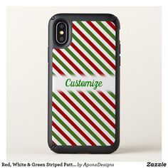 Watermelon-Inspired Stripes Custom Name - pink gifts style ideas cyo unique Cool Phone Cases, Iphone Case Covers, White Iphone, Pink Gifts, Green Stripes, Pink Fashion, Iphone 11, Watermelon, Names