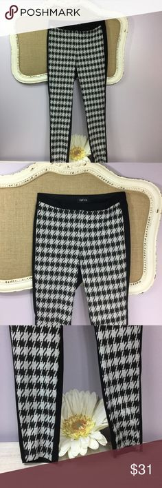 Fab'rik Houndstooth leggings Where are all of my Alabama fans?!?! Perfect and adorable leggings! Condition: Excellent, preowned, no holes or stains. Normal wear from washing and wearing.  Color: black and white front, solid black in back  Measurements- Size: large   Front rise: 9 1/2 inches  Inseam: 27 1/2 inches  Materials: see photo of tag fab'rik Pants Leggings