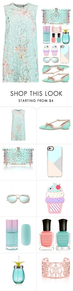 """""""21.07.17"""" by malenafashion27 ❤ liked on Polyvore featuring MSGM, Kate Spade, Dolce&Gabbana, Casetify, Forever 21 and Deborah Lippmann"""