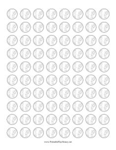Perfect for coloring in, these 10 euro cent coins are only outlines. Free to download and print