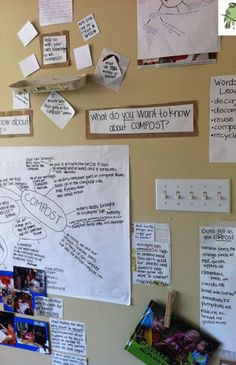 Composting display: this board was created to show the children (and anyone who comes into our classroom) how learning took place regarding this topic.**Designate a display area in my room for this kind of work..khs