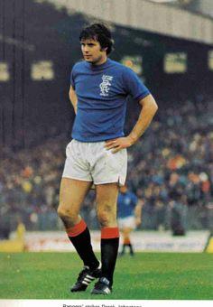 Derek Johnstone of Rangers in 1977.