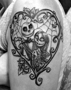 Jack & Sally ~ The Nightmare Before Christmas ~ Spider web ~ Tattoo