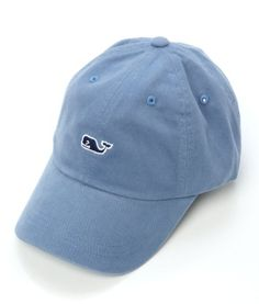 Vineyard Vines Whale Logo Baseball Cap Hat (Slate Blue)