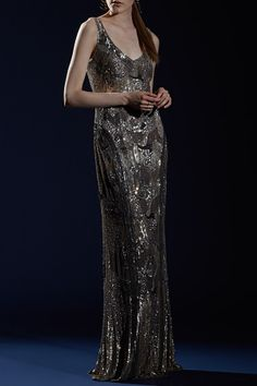 Theia's Sequined Gown will make you shine bright like a diamond!