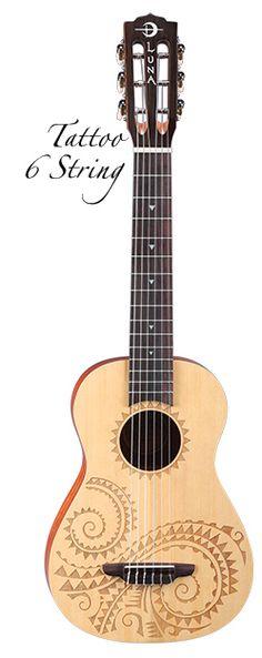 6 string bass ukele   Luna Guitars
