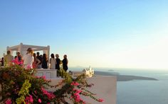 Wedding in Santorini ~ Weddings in Greece -Amazing setting in Santorini