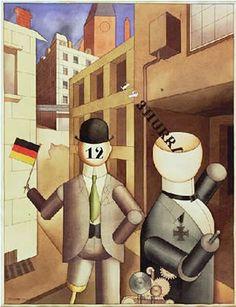 Republican Automatons George Grosz 1920 - George Grosz - Wikipedia New Objectivity, Anni Albers, Jewish Museum, Tate Britain, British Museum, Tigger, Art History, Berlin, Mickey Mouse