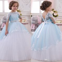 Cheap flower girl dresses, Buy Quality flower girl directly from China kids communion dresses Suppliers: New Baby Princess Flower Girl Dress Lace Appliques Wedding Prom Ball Gowns Birthday Communion Toddler Kids TuTu Dress Tulle Flower Girl, Princess Flower Girl Dresses, Princess Dress Kids, Wedding Flower Girl Dresses, Little Girl Dresses, Girls Dresses, Flower Girls, Baby Princess, Party Dresses