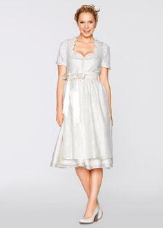 grande taille · La robe de mariée Dirndl avec tablier en dentelle, longueur  mi-mollet, bpc 84960aa9f32