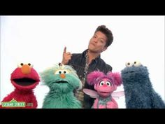 Sesame Street: Bruno Mars sings Don't Give Up.  This is adorable =)