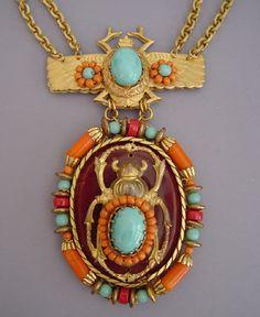 Miriam Haskell vintage Egyptian Revival