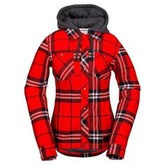 Volcom Womens Snowboard Jacket Circle Flannel                                                                                                                                                                                 More