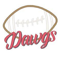 Designs :: Mascots :: Dawgs Football Applique