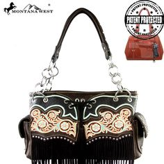 MW342G-8085 Montana West Fringe Collection Concealed Handgun Collection Satchel-Coffee  #western #momtanawest #west #handbaloverusa #rustic #rusty #country #purse #countrygirl #cattle #american #cowgirl #texas #texan #USA #cowgirl #cattle #countryside #countrylife #gun #guncarry #aztec