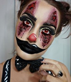 Halloween clown makeup
