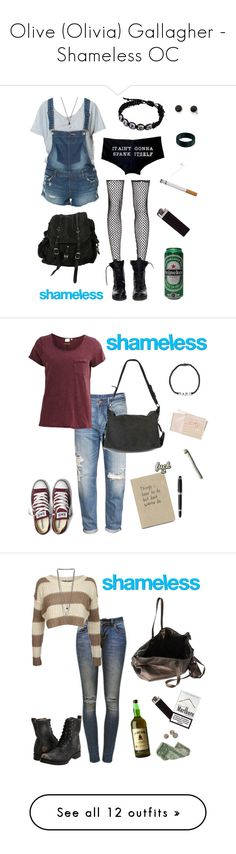 """""""Olive (Olivia) Gallagher - Shameless OC"""" by mademoisllea ❤ liked on Polyvore featuring Zara, Bohemian Society, Theyskens' Theory, AllSaints, ASOS, With Love From CA, FOSSIL, H&M, Object Collectors Item and Converse"""