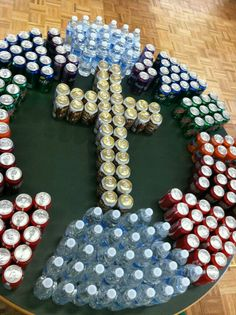 Cross made of soda cans - 'All who thirst' - Lent 2013