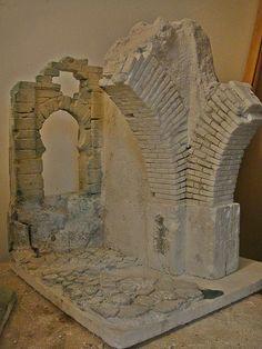 Putz Houses, Fairy Houses, Christmas Villages, Christmas Nativity, Foam Carving, Nativity Stable, Warhammer Terrain, Wargaming Terrain, Modelos 3d