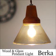 北欧 ペンダントライト Berka ベルカ ナチュラル ウッド カントリー ガラス 硝子 アンティーク レトロ LED対応 ダイニング リビング キッチン 玄関 トイレ 階段 インテリア 60W INERFORM LT-9532