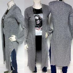 Long Cardigan  Salt&Pepper long open front cardigan Sweaters Cardigans