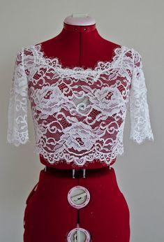 French Lace Bolero, Wedding Lace Bolero, Wedding Bolero With Sleeves