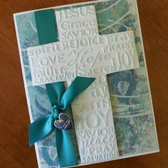 Christian Easter Cross Card by KraftingBrighterDays on Etsy