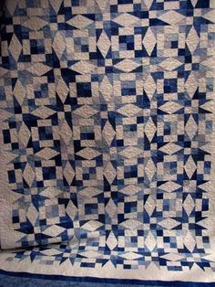 Barbara's Blue and White Star Quilt