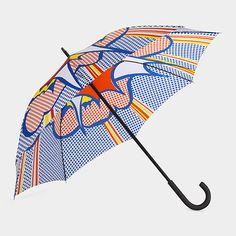 """Roy Lichtenstein: Explosion Umbrella - MOMA Store = 41"""" span $55"""