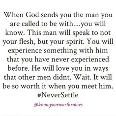 I told my parents I would never settle. And this is exactly why. Faith Quotes, Bible Quotes, Bible Verses, Me Quotes, Godly Men Quotes, Qoutes, Gospel Quotes, Jesus Quotes, The Words