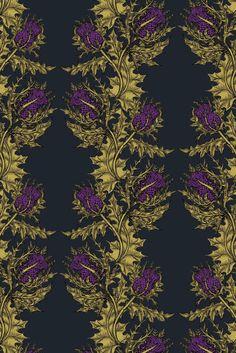 Fabulous fabric! Grand Thistle