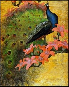 Blue Peacock by Jessie Arms Botke