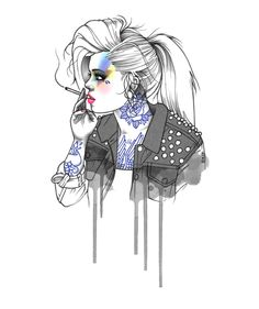 Rik Lee fashion ilustration