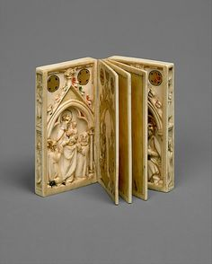 Booklet with Scenes of the Passion, carving, ca. 1300; painting, ca. 1310–20 Northern France (carving) and Upper Rhine (painting) Elephant ivory, polychromy, gilding