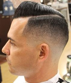 Great fade side part slicked
