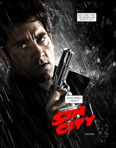 Clive Owen Sin City (love the idea- and these variant covers/posters)