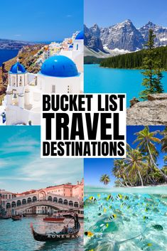 Inspire your wanderlust while at home with this ultimate travel bucket list! Click through for 100+ travel bucket list destinations! #bucketlist #travel #wanderlust bucket list travel | bucket list vacations | travel bucket list ideas | prettiest places in the world | usa bucket list | europe bucket list | best places to travel | places to see before you die | must see places in the world | safari vacations | wonders of the world | must see places in the us | must see places in europe Places In Europe, Best Places To Travel, Bucket List Destinations, Travel Destinations, World Travel Guide, Travel Guides, Travel Tips, Vacation Trips, Vacations