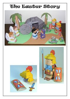 My Little House: Bible Paper Toys. These are totally awesome for hands on learning!