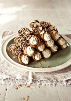 serve them lukewarm & fill them with cream on the spot as mini midnight snacks