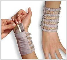 It's interesting - and pretty - and useful.  Money holder bracelet.                                                                                                                                                                                 More
