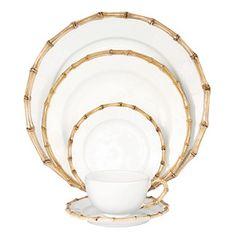 Juliska Classic Bamboo Dinnerware | Bloomingdale's Classic Dinnerware, Casual Dinnerware, Dinnerware Sets, Dinnerware Designs, Stoneware Dinnerware, Painted Bamboo, Bamboo Design, Dish Sets, Dinner Sets