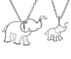 Known for their loyalty to family and protective nature, our elephant charm symbolizes the importance of loved ones. Their trunks face upwards as a symbol of good luck! Part of our TWO x TWO Collection, these Charms are perfect for giving and getting. Available in 3 colors - Gold Plate, Rose Gold and Silver (Rhodium).  Sold here in set of one large elephant and one small. Measurements: 0.5 inch drop for smaller charm; 1 inch drop for larger; adjustable 16-18 inch chain. Don't see the size...