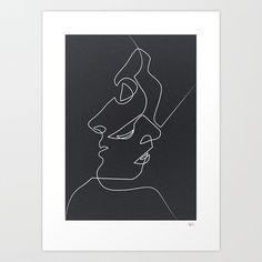 Close Noir print by Quibe