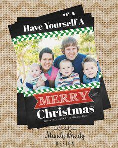 Digital Christmas Card Design   Chalkboard Christmas Card   Herringbone Christmas Card   Printable Christmas Card   Holiday Card   Download