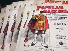 14x Popular Marches, Played by Regimental Bands of the British Army, Piano Solos